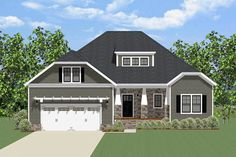 Fetching Craftsman House Plan - 46285LA | Architectural Designs - House Plans