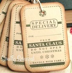 Special Delivery Christmas Tags - Sweetly Scrapped