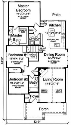 Attractive 169 1160: Floor Plan Main Level Craftsman Style Homes, Craftsman Style House  Plans