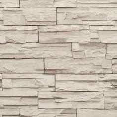 "York Wallcoverings Modern Rustic 33' x 20.8"" Travertine Trompe L'oeil Wallpaper & Reviews | Wayfair"