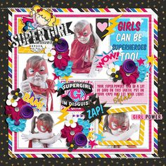 Supergirl in Disguise - Amanda Yi and WendyP. Designs http://www.sweetshoppedesigns.com/sweetshoppe/product.php?productid=35737  Captured moments 4 Template - Tinci Designs http://store.gingerscraps.net/Captured-moments-4..html