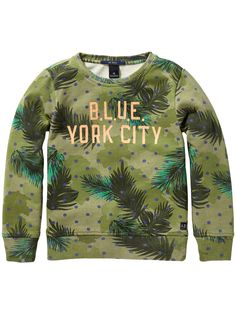 Allover printed Sweat | Sweat | Boy's Clothing at Scotch & Soda