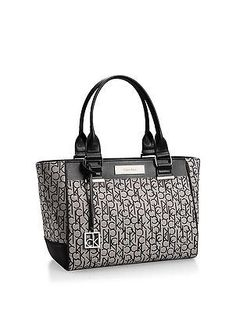 dcb39f245d Women's Shoulder Bags - Calvin Klein Logo Jacquard City Shopper Tote Bag  Handbag Satchel Granite * Check out the image by visiting the link.