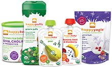 Happy Family Transition to Solids Variety Pack | Start solids in one simple step with our Transition to Solids Variety Pack. Our Happy Bellies cereals are the perfect first solid food for babies, as they are fortified with choline & DHA for brain and eye health and probiotics for immune system support. When Baby's ready for her first adventures with fruits & veggies, our Happy Baby 1: Starting Solids and 2: Simple Combos pouches introduce fruits & veggies individually, then in tasty…