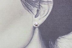 Ear stud white gold 585 with diamond
