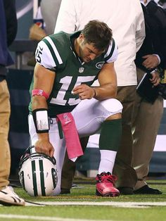 "Tim Tebow has put a trademark on ""Tebowing""."