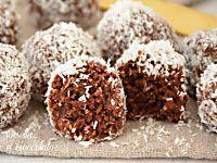 Palline cocco e cioccolato senza uova senza forno e con 3 ingredi