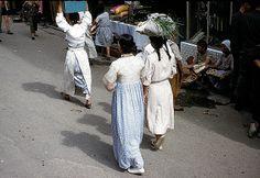 Korean women and street vendors, downtown Seoul, 1953. Photo by Dewey McLean.