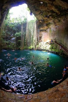 Who wants to jump in? Cenote in Chichén Itzá Mexico Say Yes To Adventure