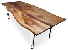 Resin River Dining Table on Steel Legs by FrancesBradleyDesign Wood Slab Table, Tree Surgeons, Dining Table Chairs, Tables, Metallic Colors, Resin, River, Furniture, Woodworking