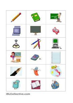 Die Schueler koennen die Gegenstaende im Klassenzimmer mit bestimmten Artikeln im Singular und Plural lernen. Es kann wie eine Uebung oder Spiel benutzt werden. - DaF Arbeitsblätter