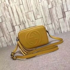 5cefb431662a Gucci Soho leather disco bag yellow 308364 Gucci Bags