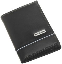 Nautica Men's Trifold Wallet, Black, One Size Nautica. $24.99. Imported. Bill Compartment. Extra Storage Compartments. 6 Credit Card Pockets. leather. Leather Framed ID Window