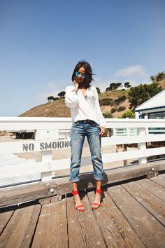 Zara blouse, Current/Elliot jeans, Zara shoes www.resortrocksugar.com