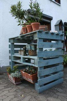 großes Paletten-Gartenregal - Bauanleitung - Schmückendes Garten von Gartenkroenchen - Gartendekoration - Garten Floristik - DaWanda