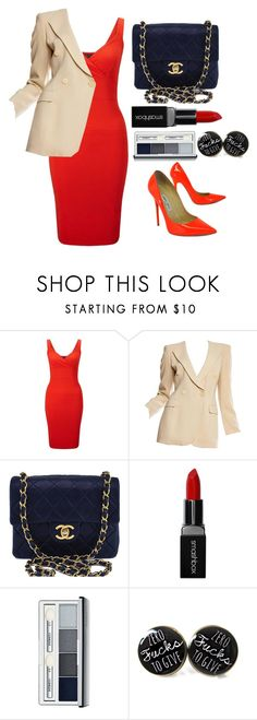 """""""You think you can say NO to me ????"""" by prettylittletimelord ❤ liked on Polyvore featuring Miss Selfridge, Giorgio Armani, Chanel, Smashbox, Clinique and Jimmy Choo"""