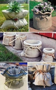 Relief Kreation Recycling: Kreativ aus dem Hobbibeton Relief Creation Recycling: Creative from the hobby concrete – Diy Concrete Planters, Cement Art, Concrete Crafts, Concrete Garden, Diy Planters, Decorative Concrete, Succulent Planters, Garden Planters, Basket Planters