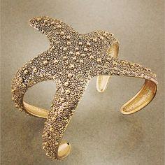 Very cute sea-starfish gold cuff...