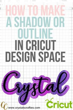 Space Guide How to add shadow to letters or make a text outline in Cricut Design Space - You know those decals with shadow behind the text? Are you wondering how did they add shadow to letters like that? Here's the fastest and easiest way. Cricut Air 2, Cricut Help, Inkscape Tutorials, Cricut Tutorials, Tips And Tricks, Magic Tricks, Cricut Craft Room, Cricut Vinyl Projects, Cricut Fonts