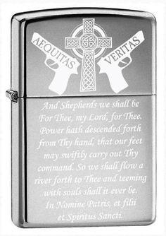 Boondocks Saints Prayer Zippo Lighter Shinny by GiftInfinity