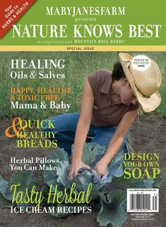 Special Herb Issue full of recipes from Mountain Rose Herbs!  This is an amazing issue! So many recipes and so much information!