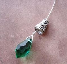 The Beading Gem's Journal: How to Make and Wire Wrap Briolette Earrings