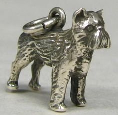 STERLING SILVER DOG CHARM BRUSSELS GRIFFON
