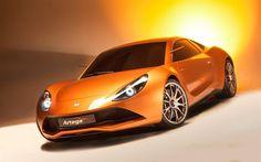 Artega Scalo Superelletra, 2017, Italian cars, orange sports car