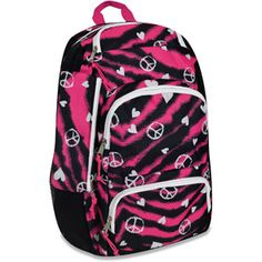"Rating - 1 Already bought this for Madeline. She is just starting kindergarten this year and doesn't need an extravagant back pack like the other kids got. This will do just fine for her, plus she picked it out! Triple-Pocket 18"" Punk Zebra Love Backpack"