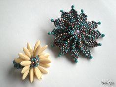 Ring (pattern by Jean Power) & Brooch