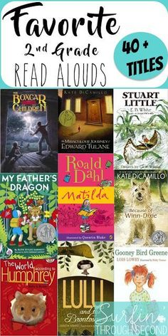 Great Read Aloud Titles recommended by Second Grade teachers. Download the free list for future reference.