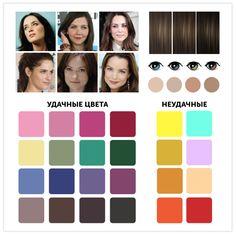1. Натуральное «лето» Это холодный тип. Средние и темные волосы, глаза серые, сине-зеленые, болотные и т. д. Цветотип «Лето» Ваши волосы: пепельно-белокурые, мышино-каштановые, средне-русые и светло-русые, пепельно-коричневые. На солнце быстро выгорают. Как правило, волосы рано, но постепенно седеют, и каждая прядь приобретает аристократический пепельный оттенок. Брови всегда русых оттенков: от светлых до темных.