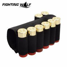 장난감 총 사냥 나일론 Buttstock 소총 8 카트리지 홀더 야외 군사 페인트 탄약 소총 총 총알 캐리어 사냥