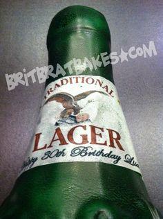 Beer Bottle Birthday Cake By: Brittney Mitchell BritBratBakes.com