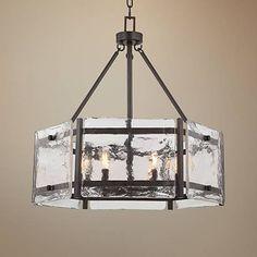 "Savoy House Glenwood 27"" Wide English Bronze Pendant Light"