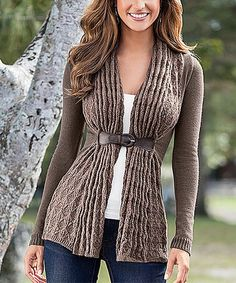 Look what I found on #zulily! Brown Front-Close Wool-Blend Cardigan by Body Language #zulilyfinds
