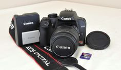 Canon EOS Rebel XS 1000D 10.1 MP Black Digital DSLR Camera Kit w/18-55mm IS Lens