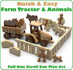 Quick & Easy Farm Tractor and Animals Scroll Saw Plan Set