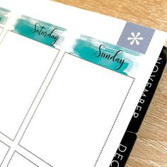 Watercolor Date covers! Available in watercolor Green and Blue. #newrelease #datecovers #datecoverstickers