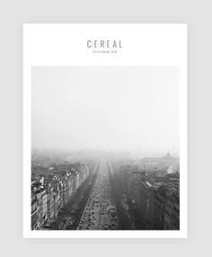Cereal magazine, volume 5 | Magazine Cover: Graphic Design, Typography, Photography |