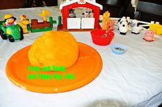 Scented playdough and farm themed play