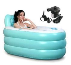 - Adult SPA Inflatable Bath Tub - For adult;175cm/100kg person - Durable made - Outside size 145*80*70cm,Inner size 120*50*45cm