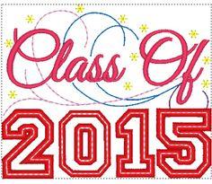Class of 2015 Graduation Machine Embroidery Design Digital Applique Instant Download