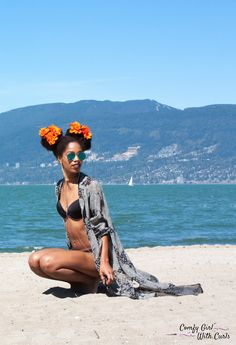 My friend, Tilda, makes beautiful things. Find your new beach look below with her unique handmade Kimono robes off Etsy. They look gorgeous as a cover up over your bathing… Natural Hair Updo, Natural Hair Styles, The Bikini, Bikini Beach, Free Black Girls, Black Curly Hair, Beautiful Black Women, Beautiful Things, Black Models