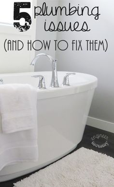 5 Common Plumbing Issues (and how to fix them)! #ad