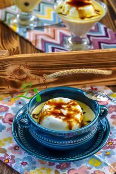 recette facile de l île flottante avec video - Amour de cuisine Dessert Ramadan, Ramadan Recipes, Cheat Meal, Mousse, Panna Cotta, Caramel, Cooking Recipes, Pudding, Treats