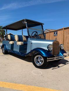customized golf-cart in Port Aransas TX. Art Deco Car, Power Wheels, Best Luxury Cars, Truck Camper, Modified Cars, Vintage Trucks, Street Rods, Golf Carts, Cool Cars