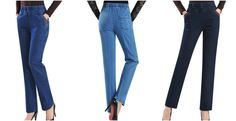 Embroidered jeans female harem high elastic waist