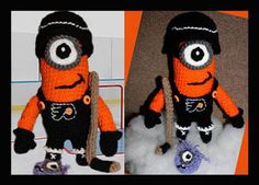I saw this on FB - flyers minion with an evil minion hockey puck