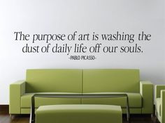 Pablo Piacasso Wall Decal New Quote Design Vinyl by LabZosos
